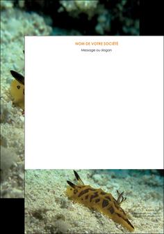 imprimerie tete de lettre animal crevette crustace animal MIF40121