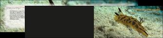 creer modele en ligne depliant 2 volets  4 pages  animal crevette crustace animal MIF40131
