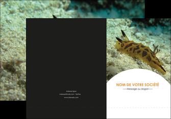 imprimerie pochette a rabat animal crevette crustace animal MIF40151