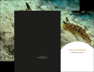 exemple pochette a rabat animal crevette crustace animal MIF40153