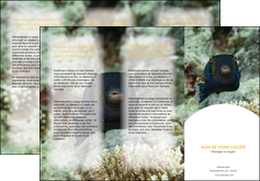 creation graphique en ligne depliant 3 volets  6 pages  animal poisson sous marine nature MIF40205