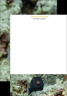 imprimerie tete de lettre animal poisson sous marine nature MIF40209