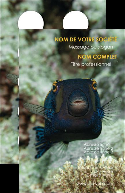 maquette en ligne a personnaliser carte de visite animal poisson sous marine nature MIF40215