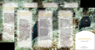 personnaliser modele de depliant 4 volets  8 pages  animal poisson sous marine nature MIF40217