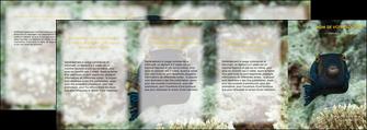 personnaliser modele de depliant 4 volets  8 pages  animal poisson sous marine nature MIF40221