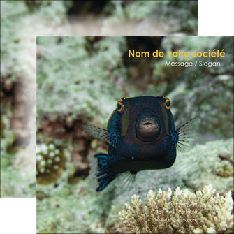 maquette en ligne a personnaliser flyers animal poisson sous marine nature MIF40223