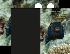 impression carte de visite animal poisson sous marine nature MIF40229