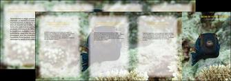 maquette en ligne a personnaliser depliant 4 volets  8 pages  animal poisson sous marine nature MIF40233