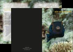 imprimer depliant 2 volets  4 pages  animal poisson sous marine nature MIF40235