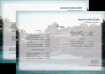 maquette en ligne a personnaliser set de table agence immobiliere maison sur plage immobilier immobilier de luxe MIS40255