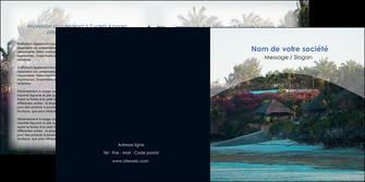modele en ligne depliant 2 volets  4 pages  agence immobiliere maison sur plage immobilier immobilier de luxe MIS40263