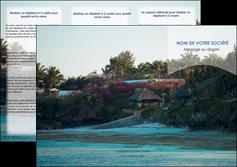 impression depliant 3 volets  6 pages  agence immobiliere maison sur plage immobilier immobilier de luxe MIS40267