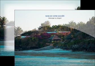 realiser affiche agence immobiliere maison sur plage immobilier immobilier de luxe MIS40271
