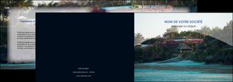 creer modele en ligne depliant 2 volets  4 pages  agence immobiliere maison sur plage immobilier immobilier de luxe MIS40277