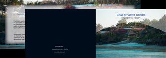 faire modele a imprimer depliant 2 volets  4 pages  agence immobiliere maison sur plage immobilier immobilier de luxe MIS40279