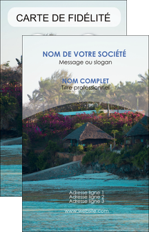 impression carte de visite agence immobiliere maison sur plage immobilier immobilier de luxe MIS40285