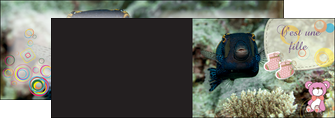 modele en ligne depliant 2 volets  4 pages  poisson sous  mer plongee MLIG40357