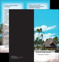realiser depliant 2 volets  4 pages  agence immobiliere maison maison sur la plage lotissement MIS40569