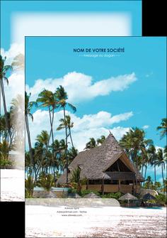 impression affiche agence immobiliere maison maison sur la plage lotissement MIS40573