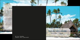 realiser depliant 2 volets  4 pages  agence immobiliere maison maison sur la plage lotissement MIS40575