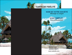 faire carte de visite agence immobiliere maison maison sur la plage lotissement MIF40585