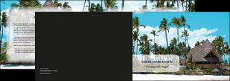 exemple depliant 2 volets  4 pages  agence immobiliere maison maison sur la plage lotissement MIS40595