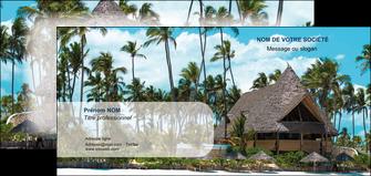 cree carte de correspondance agence immobiliere maison maison sur la plage lotissement MIF40599