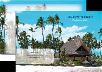 personnaliser modele de affiche agence immobiliere maison maison sur la plage lotissement MIS40605
