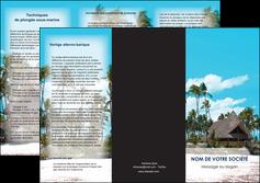 personnaliser modele de depliant 3 volets  6 pages  agence immobiliere maison maison sur la plage lotissement MIS40607