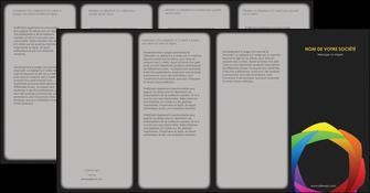 imprimerie depliant 4 volets  8 pages  peinture arc en ciel decale MIF40965