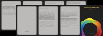 creation graphique en ligne depliant 4 volets  8 pages  peinture arc en ciel decale MIF40977