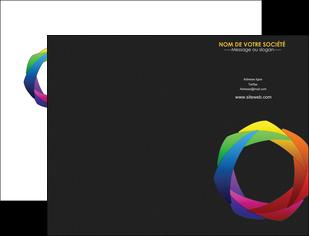 creation graphique en ligne pochette a rabat peinture arc en ciel decale MIF40987
