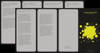 faire depliant 4 volets  8 pages  texture contexture structure MIS41373