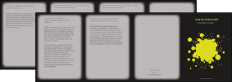 modele depliant 4 volets  8 pages  texture contexture structure MIS41375