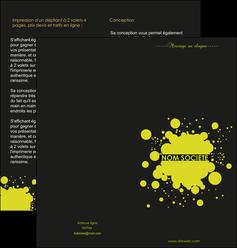 personnaliser maquette depliant 2 volets  4 pages  texture contexture structure MIS41385