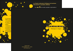 personnaliser modele de depliant 2 volets  4 pages  abstrait art artistique MLIG41473