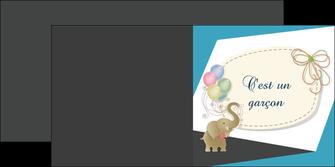 modele en ligne depliant 2 volets  4 pages  elephant ballons noeud MLIG41681