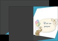 impression depliant 2 volets  4 pages  elephant ballons noeud MLIG41685