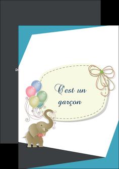 imprimer flyers elephant ballons noeud MLIG41689