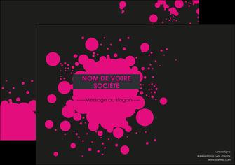 modele affiche peinture rose tache de peinture MLIG41701