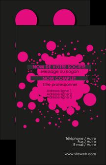 imprimer carte de visite peinture rose tache de peinture MLIG41703