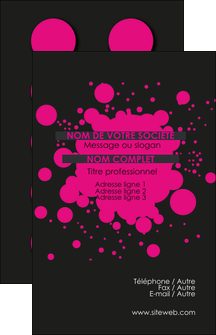 imprimer carte de visite peinture rose tache de peinture MLGI41703