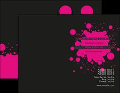 maquette en ligne a personnaliser carte de visite peinture rose tache de peinture MLIG41717