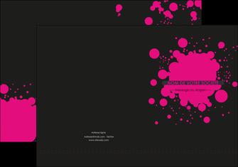 modele en ligne pochette a rabat peinture rose tache de peinture MLGI41725