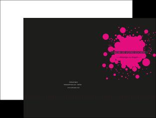 creation graphique en ligne pochette a rabat peinture rose tache de peinture MLIG41727