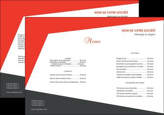 personnaliser maquette set de table rouge noir moderne MLGI41847