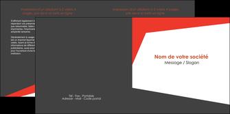 realiser depliant 2 volets  4 pages  rouge noir moderne MLIG41855
