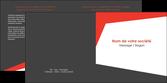 realiser depliant 2 volets  4 pages  rouge noir moderne MLGI41855