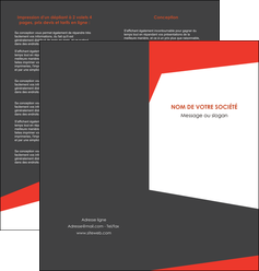 creer modele en ligne depliant 2 volets  4 pages  rouge noir moderne MLIG41857