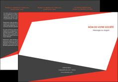 maquette en ligne a personnaliser depliant 3 volets  6 pages  rouge noir moderne MLGI41859